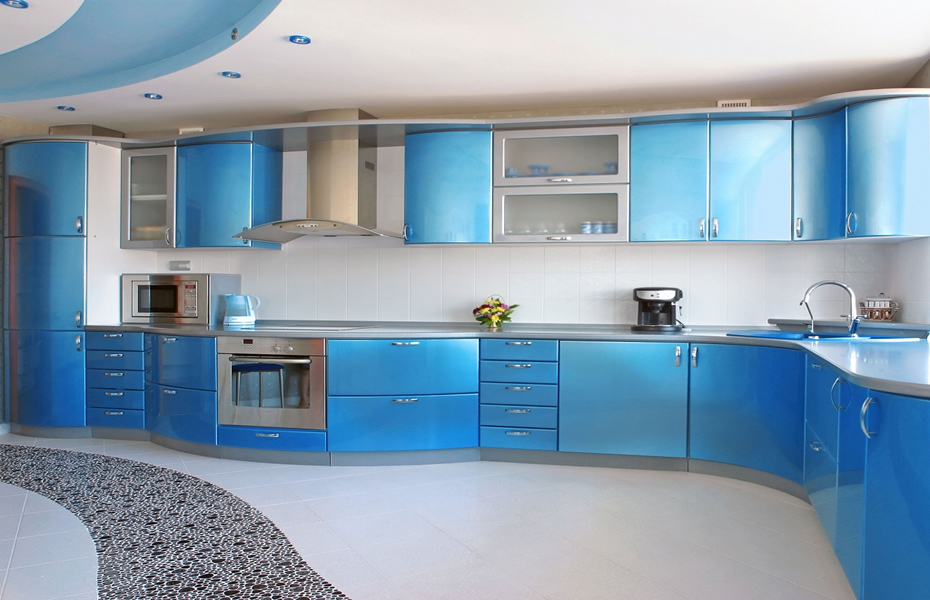 Different coloured kitchens designer kitchen for Coloured kitchen units uk