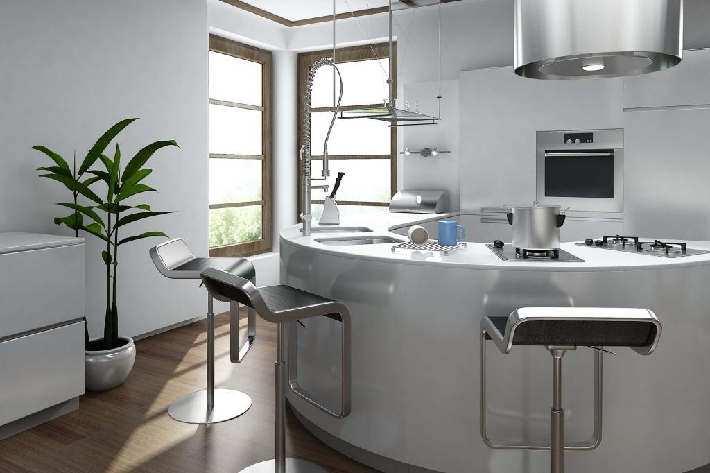 Round kitchen island designs circular kitchens london designer for Round kitchen island designs