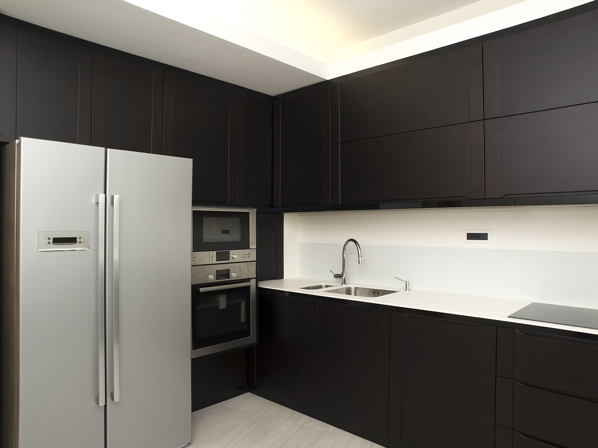 Matt Black Kitchen Cabinets
