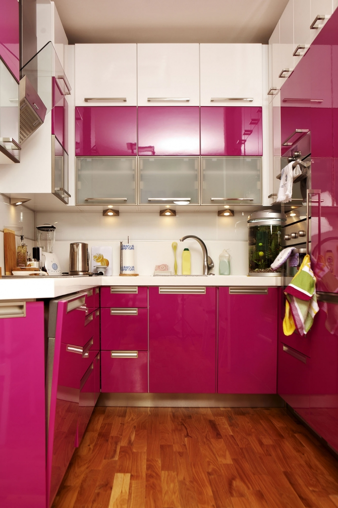 Pink KitchensA real statement colour