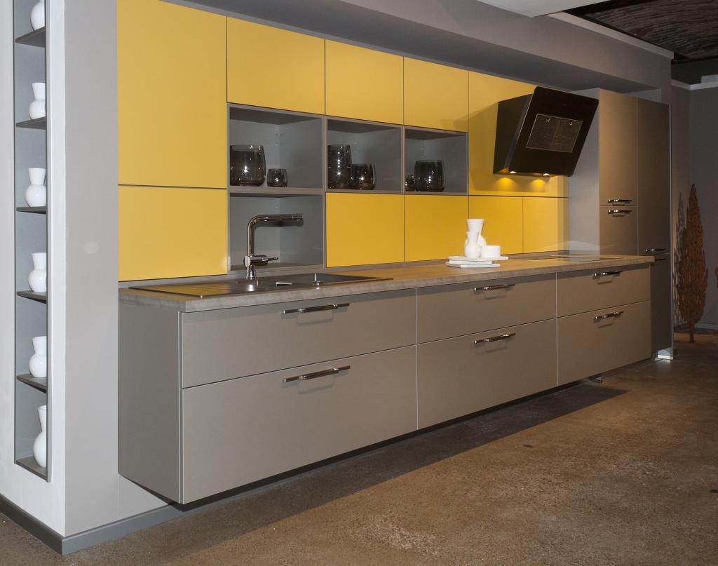 Yellow And Grey Kitchen Bauformat Kitchens Premium Quality German Kitchens