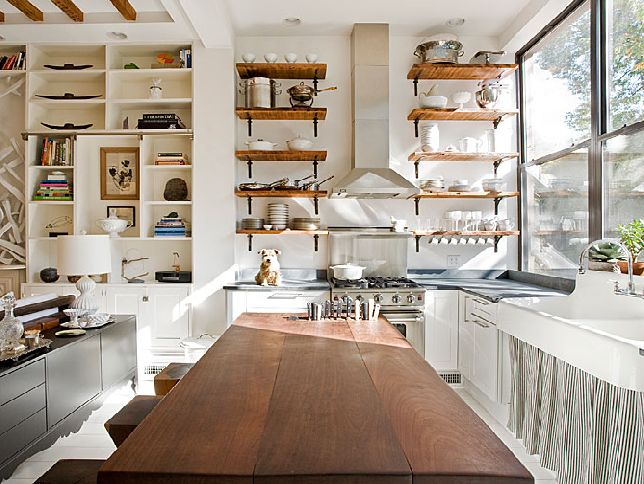 Stylish ways to design open shelves for Open shelves in kitchen ideas