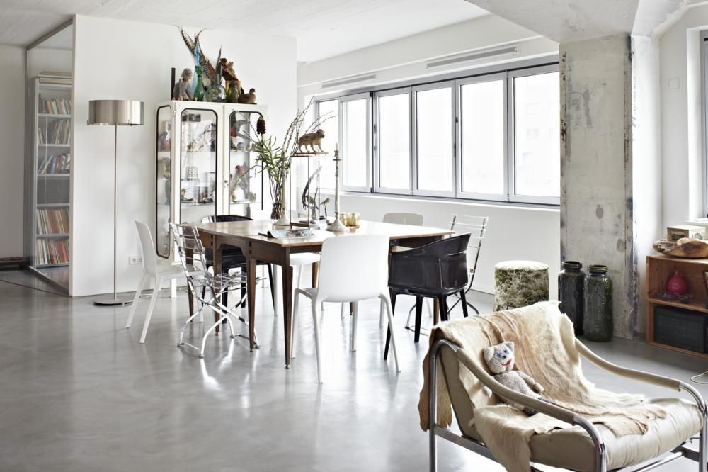 Soften Up An Industrial Styled Kitchen Wohnzimmer