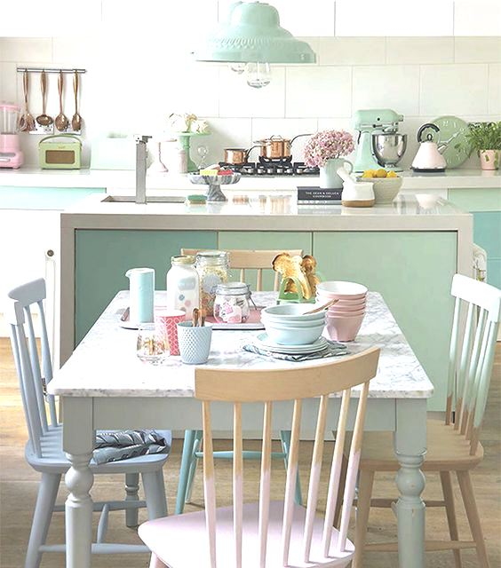 Pastel Designs For Your Kitchen Space