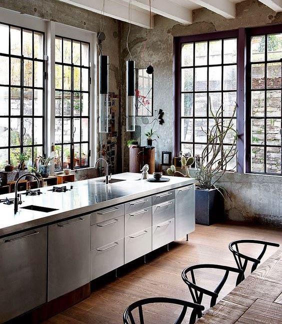 Industrial Kitchen Windows