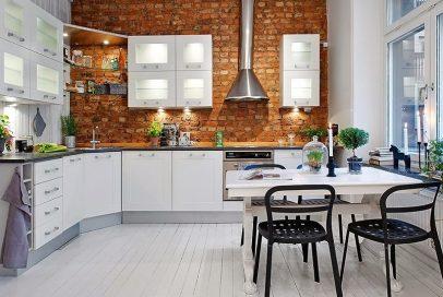 stylish layout for small kitchen