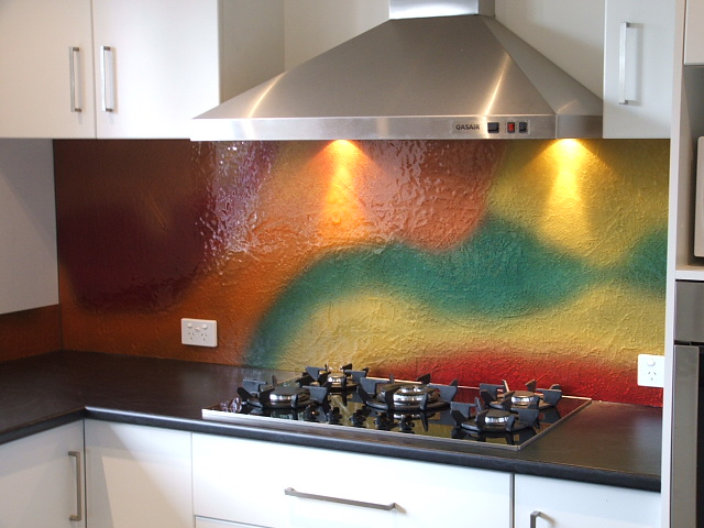 Kitchen Colour Splashback Ideas
