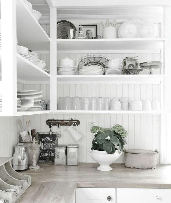 all-white-open-shelves