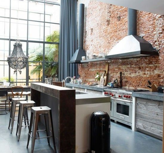 How to create an industrial themed kitchen space for How to create a kitchen