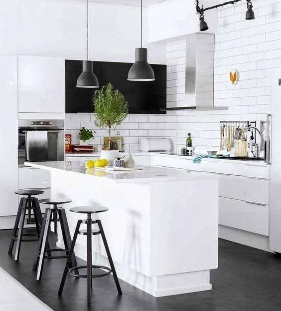 White Kitchen And Dark Floors: How To Achieve The Classic White Home Scheme