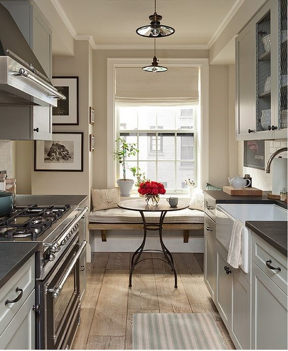 Fabulous ideas for your small kitchen for Expanding a galley kitchen