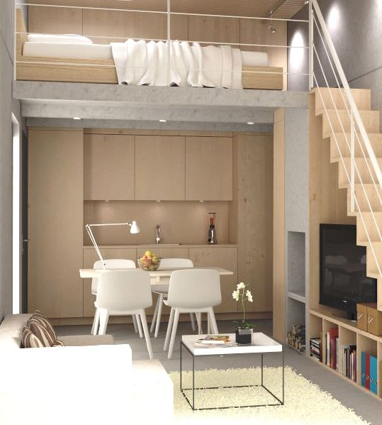 3Integrate a small kitchen