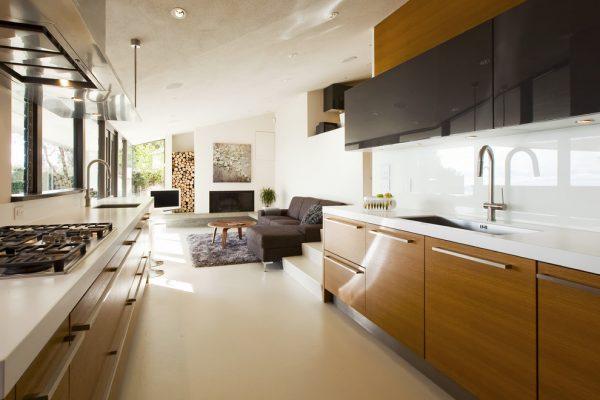 modern kitchen galley