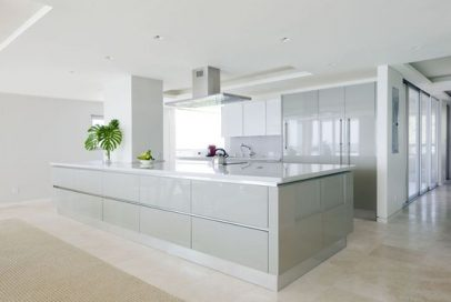 white high gloss kitchens